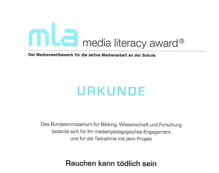 MLA media literacy award